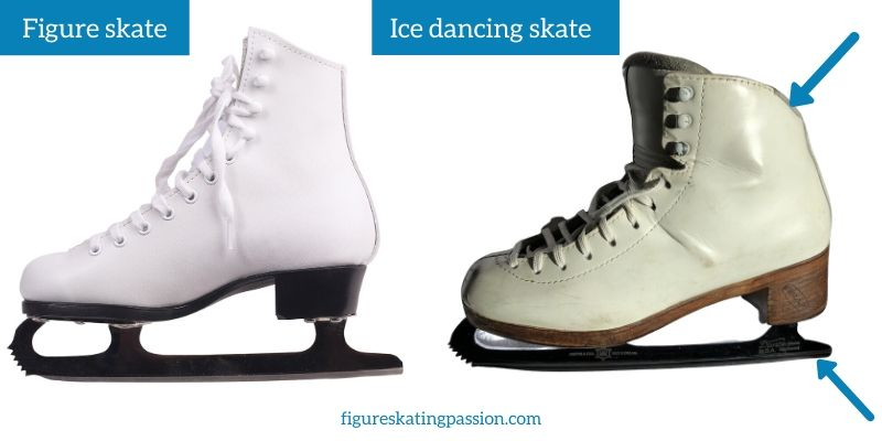 figure skates vs ice dancing skates