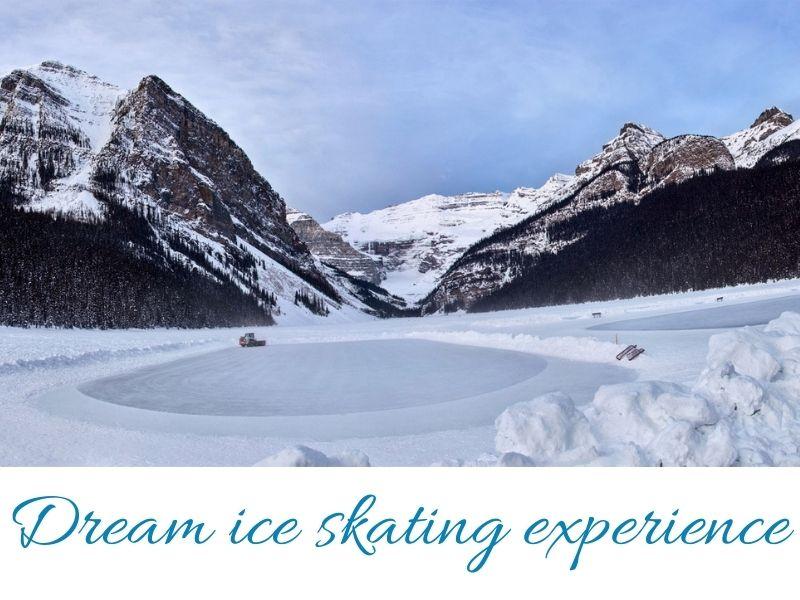 Dream ice skating experience lake Louise Banff