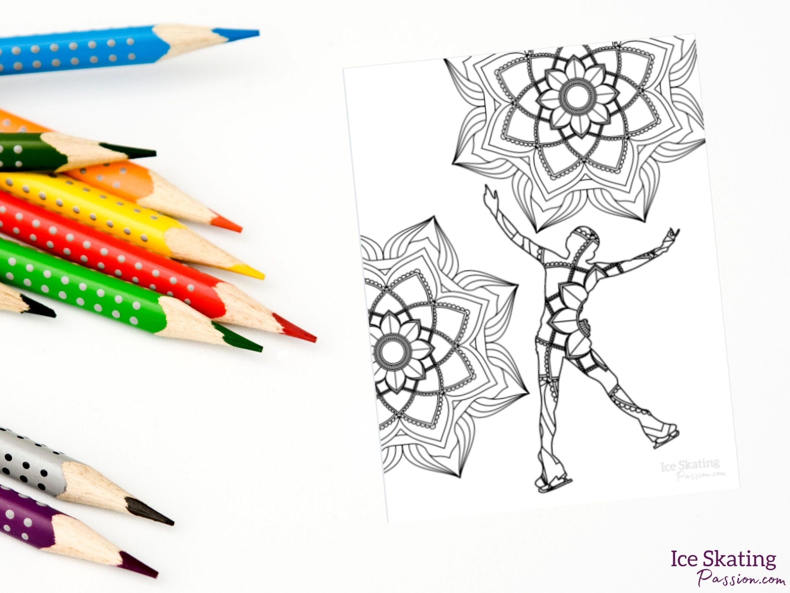 Figure skating coloring book adult silhouettes lifestyle (1)