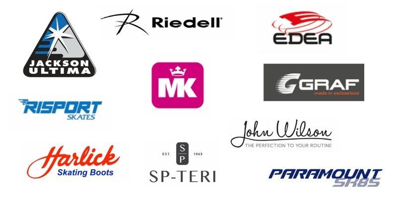 Figure skate brands logos