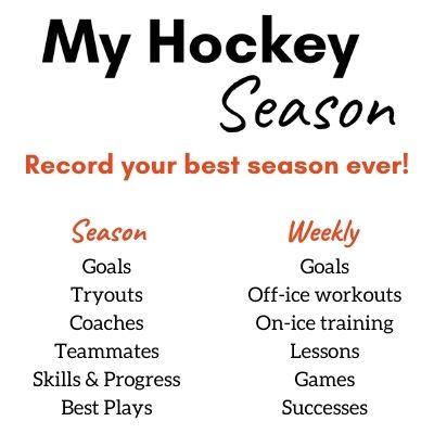Season Hockey Training Log notebook