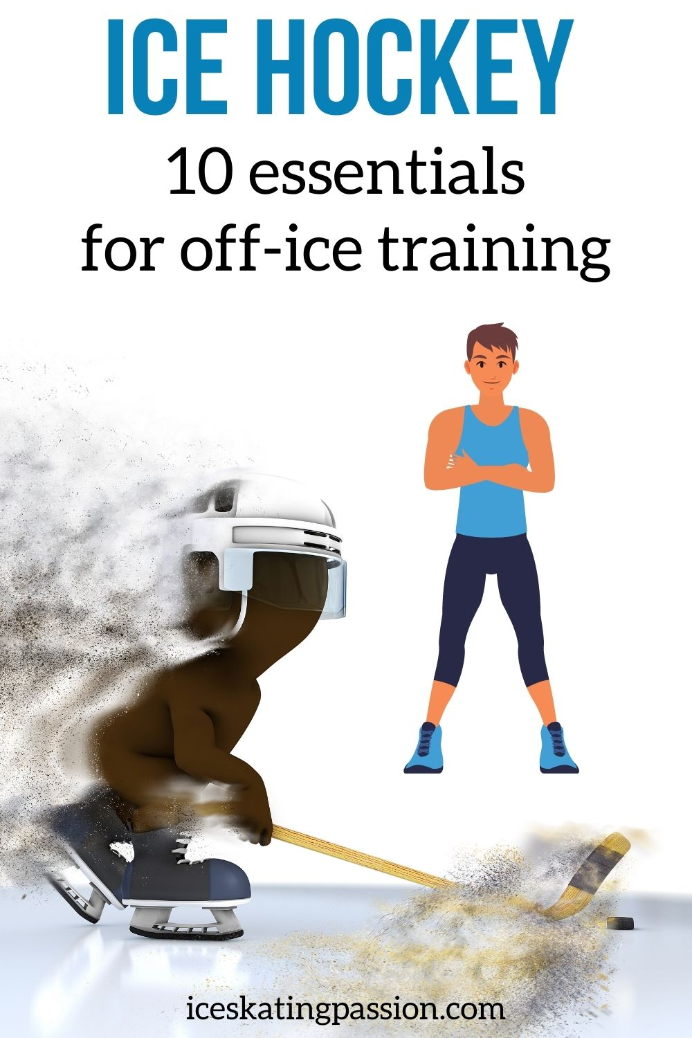 Off ice hockey training workout drills Pin2
